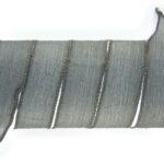 Handgeverfd zijden armbandlint, 2,5x85cm, Grijs, 1 st