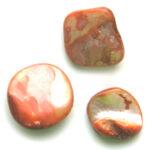 Natuurlijk gevormde parelmoer kraal, 12-20mm, Oranje, 20 st