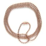 Ball chain DQ, bolletjes 2.4mm, Rose Gold, 1 meter