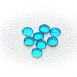 Strass plaksteen flatback, Fel turquoise (SS16), 4mm, 50 st