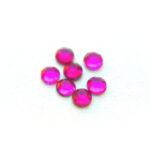 Strass plaksteen flatback, Fel roze (SS16), 4mm, 50 st