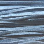 Imitatie suede veter, 3mm breed, 90cm lang, Blauw, 10 st