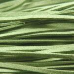 Imitatie suede veter, 3mm breed, 90cm lang, Groen, 10 st