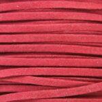 Imitatie suede veter, 3mm breed, 90cm lang, Bordeaux rood, 10 st