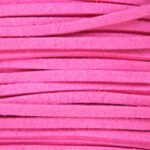 Imitatie suede veter, 3mm breed, Fuchsia, 10 m