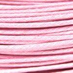 Waxkoord, 2 mm dik, bundel 5m, Roze