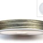 acculon, nylon coated Staaldraad, metaalkleurig, coated, 0.38mm