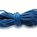 Leer koord, 2.5 mm dik, Blauw, 5 m