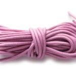 Leer koord, 2.5 mm dik, Roze, 5 m