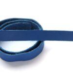 Plat leer voor armband, 9mm x 38cm, Blauw, 1 st