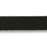 Plat leer voor armband, 1 cm, 2,5 mm dik, Zwart, 1 m