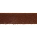 Plat leer voor armband, 1 cm, 2,5 mm dik, Bruin, 1 m