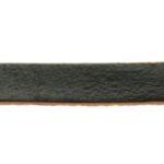 Plat leer voor armband, 5 mm, 1 mm dik, Zwart, 2 m