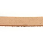 Plat leer voor armband, 5 mm, 1 mm dik, Bruin, 2 m