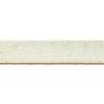 Plat leer voor armband, 5 mm, 1 mm dik, Wit, 2 m