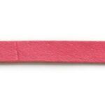 Plat leer voor armband, 5 mm, 1 mm dik, Roze, 2 m