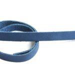 Plat leer voor armband, 9mm x 38cm, Blauw, glad, 1 st