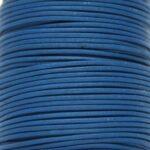 Leer koord, 1,5 mm dik, Blauw, 5 m