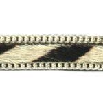 Plat harig leer, jasseron afgewerkt, Zebra, 10mm, 1 m