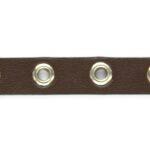 Ecoleer met ringen, 10mm, Bruin, 1 m