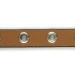 Ecoleer met ringen, 10mm, Mokka, 1 m