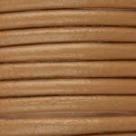 Leer koord, 4mm dik, Bruin, 1 m