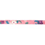 Aztec koord, 7x5mm, Roze/bloem, 1 m