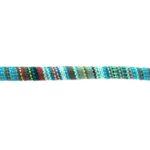Aztec koord,  6mm, Turquoise/multi colour, 1 m