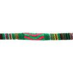 Aztec koord,  6mm, Groen/multi colour, 1 m