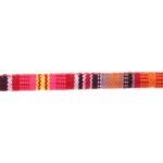 Aztec koord,  6mm, Rood/oranje/roze/multi colour, 1 m