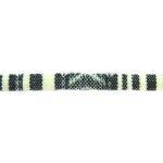 Aztec koord,  6mm, Zwart/ivoor, 1 m