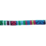 Aztec koord,  6mm, Blauw/groen/multi colour, 1 m