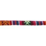 Aztec koord,  6mm, Rood/oranje/multi colour, 1 m