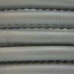 Eco Nappa Leer,  4mm, Grijs, 1 m