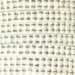 Imitatie suede leer met dubbele rij strass, 5x2mm, Wit, 2 m