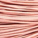 Leer koord, 2mm dik, Licht roze, 4 m