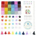 Mega Kralen box – Regenboog 24 kleuren – 2mm Rocailles – 20.000 kralen + veel extra artikelen