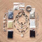 Zelf sieraden maken kralen pakket – Kettingen en enkelbandjes – 2mm kraal met staaldraad – Zwart, wit, grijs, creme, bruin, zilver